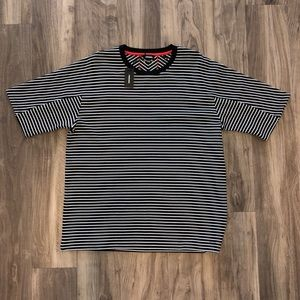 Diesel // Men's Black & White Striped Tee